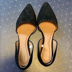 EUC Black Studded Flats